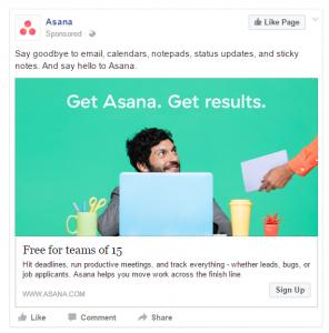 Facebook Ad example 2