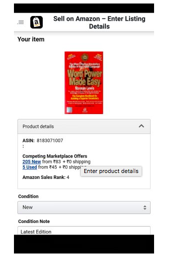 amazon add product details